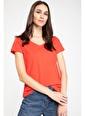 DeFacto Basic V Yaka T-shirt Kırmızı